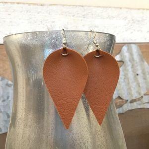 Vegan leaf earrings